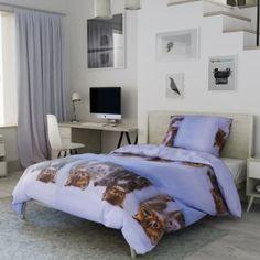 3D povlečení fotopotisk fototisk modré hnědé kočky koťata koťátka roztomilé dětské zvířata Comforters, Blanket, Bed, Furniture, Home Decor, Creature Comforts, Quilts, Decoration Home, Stream Bed