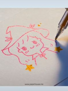 Doodle art and bullet journals go hand in hand with our bold line glitter pens👉Shop Cute Easy Drawings, Kawaii Drawings, Cartoon Drawings, Pencil Art Drawings, Drawing Sketches, Bullet Journal Art, Bullet Journals, Cute Doodles, Pen Art