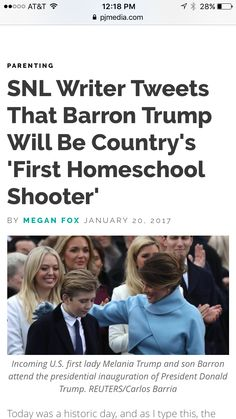 Parenting writer tweets that barron trump will countrys first homeschool shooter