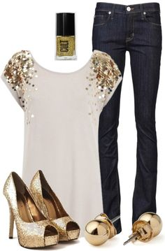 Love the shirt! A bit of sparkle for a girls' night out