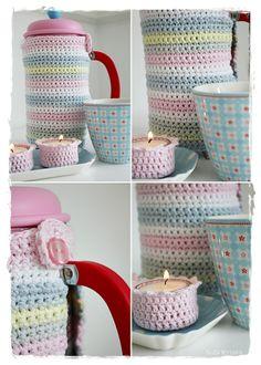 Crochet inspiration @ indretning med farver... cafetiere cosy