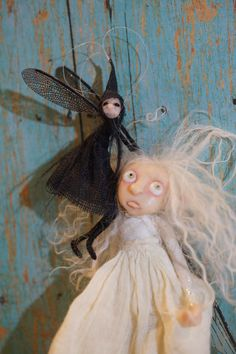 ooak polymer clay poseable art dolls by DinkyDarlings Elves Gnomes Fairies and pixies