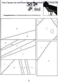 bird - paper piecing pattern