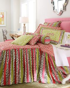 Legacy By Friendly Hearts Simba Bed Linens Lime Green Spotted Pillow