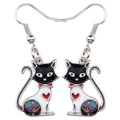 Katzen Ohrringe Types Of Metal, Cats And Kittens, Drop, Pairs, Metals, Products, Umbilical Cord, Ear Piercings, Cats