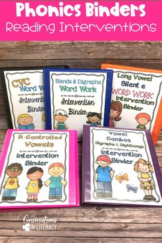 Phonics Word Work Binders-Phonics decoding activities and ideas for guided reading and reading interventions that build fluency! Increase learning during small groups with fun practice for kids. Teachers use these phonics activities to build up from word level to fluency with reading passages.  Great for struggling readers too! #kindergarten #firstgrade #secondgrade #thirdgrade #conversationsinliteracy #phonics #fluency #comprehension #classroom #elementary #decoding #readinginterventions #guide