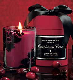 New fragrance! Forbidden Fruits Cranberry Crush Available July 22 #PartyLite