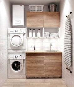 modern laundry room ideas with sleek wooden cabinet and white wall color cute laundry room ideas modern laundry room ideas minimalist laundry room ideas - Utility Room Design Ideas
