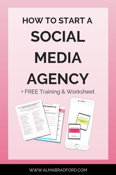 Learn how to start your own profitable social media marketing agency even as a beginner! I cover everything from which services to offer and how outsourcing works.  #socialmedia #onlinebusiness