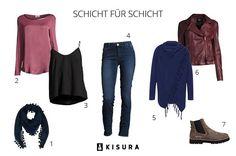 So funktioniert der Layering-Trend! #layering #autumn #fall #outfit #trendy Mehr auf : www.kisura.de/content/magazin