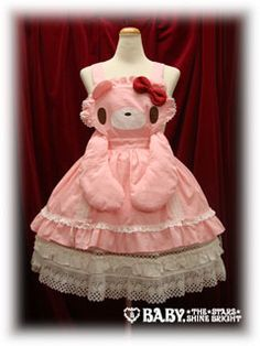 I AM a gloomy bear! i have this dress in orange with a blue bow. you can get one custom made, any colors and in your exact size on ebay! As i recall... it was not at all expensive!