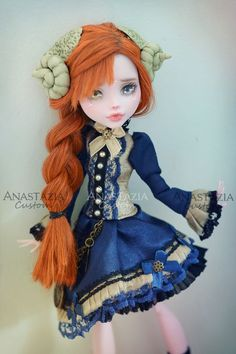 Monster High custom OOAK Customized doll: Monster High Doll Clothes, Custom Monster High Dolls, Monster High Repaint, Custom Dolls, Pretty Dolls, Beautiful Dolls, Ooak Dolls, Art Dolls, Ever After Dolls