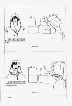 Chinese method of pattern making - it's my hobby. capuche (hood)