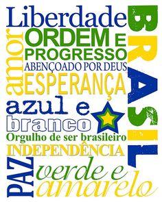 Orgulho de Ser Brasileiro - Proud To be Brazilian subway art. Free download on http://cookieriabymargaret.blogspot.com/