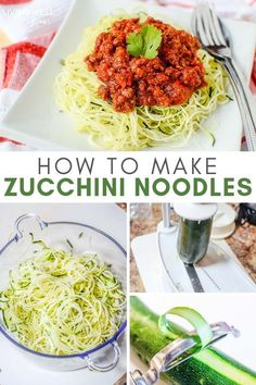 Business Cookware Ought To Be Sturdy And Sensible How To Make Zucchini Noodles - A Step By Step Guide To Healthy Zoodles From How To Prepare With Or Without A Spiralizer, An Easy Zoodles Recipe, Plus Tips For Cooking And How To Avoid Watery Noodles. Zucchini Zoodles, Cook Zucchini Noodles, How To Cook Zucchini, Zucchini Noodle Recipes, Zoodle Recipes, Healthy Zucchini, Healthy Pastas, Beef Recipes, Whole Food Recipes