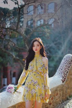 Korean Fashion Trends, Asian Fashion, Look Fashion, Girl Fashion, Fashion Design, Korean Dress, Korean Outfits, Teen Fashion Outfits, Fashion Dresses