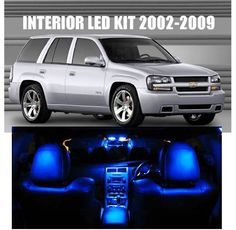 Agt 2002 2009 Chevy Trailblazer High Performance Led Interior Kit Blue Color 12pc