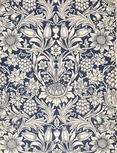 Sunflower wallpaper, by William Morris. England, 19th century