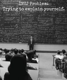 """I often feel like that guy. Standing in front of people, all alone, all your ideas in your head swirling like on the chalkboard, and not knowing where to begin...""""Uuuuh....stuff? I swear it makes sense!"""" ;-)"""