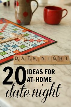 20 ideas for at-home date night -- yes please! I think we have done all of these in the past 31 years! All You Need Is Love, Just In Case, Let It Be, My Funny Valentine, Valentines, Marriage Advice, Love And Marriage, At Home Date Nights, Youre My Person