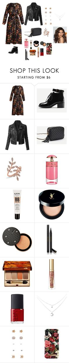 """😍😍"" by aydash-blogg ❤ liked on Polyvore featuring Isabel Marant, LE3NO, Anne Sisteron, Prada, NYX, Yves Saint Laurent, Guerlain, Gucci, Clarins and Too Faced Cosmetics"