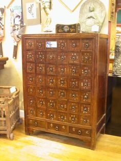 Medicine chest.  It seemed like every antique shop or Tibetan store had one of these.  It was a nice touch.