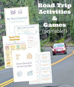 15 Road Trip Printables: LOTS of creative Games & Activities for kids and tweens on long car rides! Perfect for summer travel, family vacation and non-tech activities for the car. Road Trip With Kids, Family Road Trips, Travel With Kids, Family Travel, Summer Travel, Road Trip Activities, Road Trip Games, Summer Activities For Kids, Winter Activities