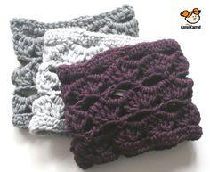 Cuellos bufanda a ganchillo/ crochet en lana