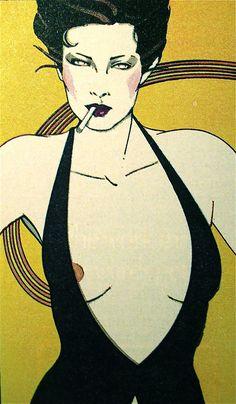 Women in art: Patrick Nagel Patrick Nagel, Character Illustration, Illustration Art, Nagel Art, Political Art, Sketch Painting, Vintage Cartoon, Erotic Art, Art Techniques