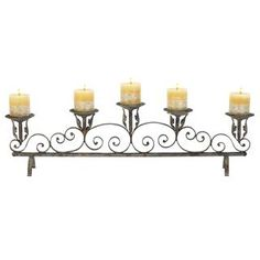 """Check out the Woodland Imports 52916 33"""" Metal Candle Holder priced at $65.60 at Homeclick.com."""