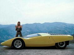 Yellow 70's sports car concept
