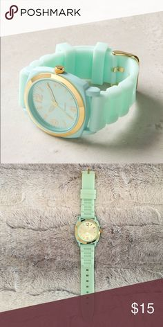 """Anthropologie Viscid Watch Anthropologie Viscid Watch. Like new; still has plastic protector on metal back.  Made out of rubber, metal, glass.  9""""L, 1.5""""W. I ship within 24 hours of purchase. No trades. Thanks for looking! Anthropologie Accessories Watches"""
