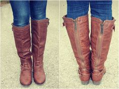 Breckelle Outlaw Buckle Riding Knee High Boot  #Fall #Boots