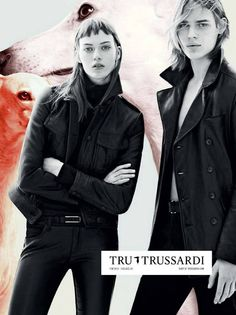 Tess Hellfeuer & Ton Heukels for Tru Trussardi Fall/Winter 2013/2014 Campaign by Karim Sadli | The Fashionography