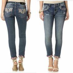 Koral Women/'s Low-Rise Capri Cropped Slim Denim Blue Jeans Size 25 x 26