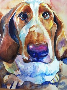 Brown Eyes Painting by Marias Watercolor - Brown Eyes Fine Art Prints and Posters for Sale