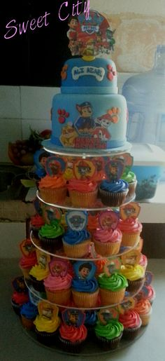 Paw patrol cake and cupcakes combo