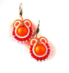 Soutache Earrings Ellegant Dangle Earrings Unique and