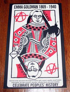 Emma Goldman Queen of Anarchism poster