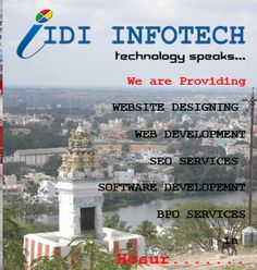 IDI INFOTECH is a Growing IT Services Company in India, we are offering best Web Designing and SEO Services in Hosur, Tamil Nadu. It Services Company, Seo Services, Best Web Design, Software Development, India, Delhi India, Indian