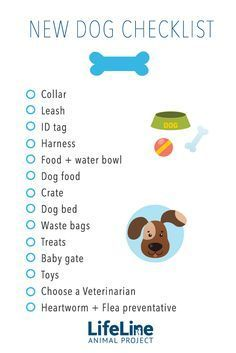 ♥ Dog Care Tips ♥ Be prepared when you bring home your rescued dog with this handy checklist!