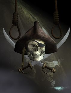 Jolly Roger by kosv01.deviantart.com on @deviantART Pirate Art, Pirate Life, Pirate Skull, Pirate Ships, Pirate Tattoo, Ahoy Matey, Davy Jones, Jolly Roger, Pirates Of The Caribbean