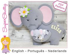 This PDF felt pattern is a tutorial with illustrations, text and full size pattern pieces (no need to enlarge or resize). Step by step you make Tony the Turtle yourself. This is in three languages, Dutch, English and Portuguese. Tony is 20 cm / 8 inch high. After purchase you can download and print this pattern within a few minutes.  Essa apostila digital em PDF é composta de fotos e texto. Passo a passo você irá confeccionar Tony a Tartaruga. A apostila vem em três idiomas Holandês, Inglês…