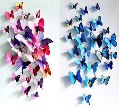 Vivid 3D Butterfly Wall Decors Stickers for Home Decoration 12pcs / Pack Random Pattern-2.38 and Free Shipping  GearBest.com