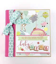 This baby girl scrapbook album is available as a DIY kit or pre-made and will make a wonderful keepsake for all of those treasured newborn memories! This is an adorable little album for a new baby girl (also available for a boy). Give it as a gift for a newborn, or fill it with all of the memories of your own little bundle of joy. Pictures and details of a sweet little girl will be treasured for years to come in this little book. The album measures 6x8 inches and includes 16 pages (8…