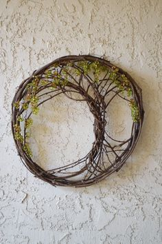 Tree of life upcycled from a grapevine wreath