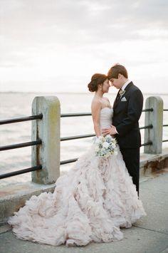 This Elie Saab dress is a dream: http://www.stylemepretty.com/2015/05/19/the-prettiest-blush-pink-wedding-dresses/