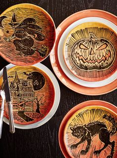 Gather guests around a table filed with sweet treats and spooky serveware. Click for more ideas!