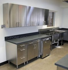 25 Super Modern Stainless Steel Kitchen Cabinet Design For Cozy