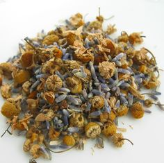 Chamomile Lavender Herbal-Notice the full and whole blossoms of #chamomile and #lavender in our Chamomile Lavender Herbal.  Nothing but peaceful beauty in this brew.  One of our favorite premium floral blends.  Naturally #caffeine-free.